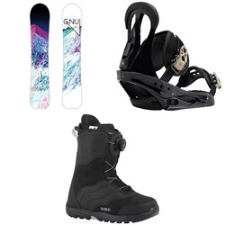 GNU Chromatic BTX Snowboard - Women's  ​+ Burton Citizen Snowboard Bindings - Women's  ​+ Mint Boa Snowboard Boots - Women's 2018