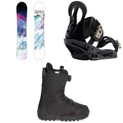 GNU Chromatic BTX Snowboard  + Burton Citizen Snowboard Bindings  + Mint Boa R Snowboard Boots - Women's 2018