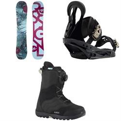 Rossignol Meraki Snowboard - Women's 2019 + Burton Citizen Snowboard Bindings - Women's 2019 + Mint Boa Snowboard Boots - Women's 2018