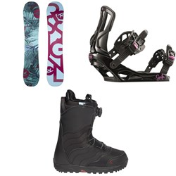 Rossignol Meraki Snowboard  + Rossignol Gala Snowboard Bindings  + Burton Mint Boa R Snowboard Boots - Women's 2018