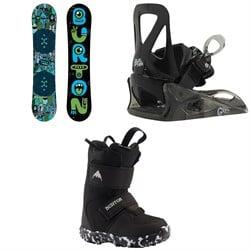 Burton Chopper Snowboard + Grom Snowboard Bindings - Little Kids' + Mini Grom Snowboard Boots - Little Kids' 2020