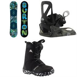 Burton Chopper Snowboard + Grom Snowboard Bindings - Little Kids' + Grom Boa Snowboard Boots 2020