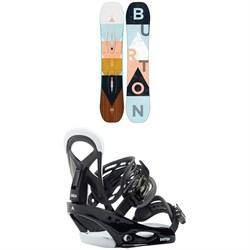 Burton Yeasayer Smalls Snowboard - Girls + Burton Smalls Snowboard Bindings - Kids' 2020