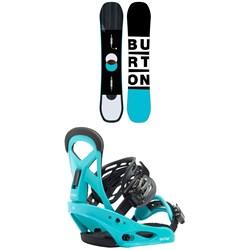 Burton Custom Smalls Snowboard - Kids + Burton Smalls Snowboard Bindings - Kids' 2020
