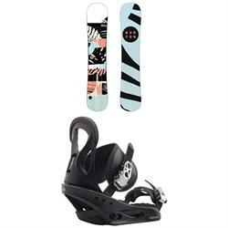 Burton Hideaway Snowboard - Women's + Burton Citizen Snowboard Bindings - Women's 2020