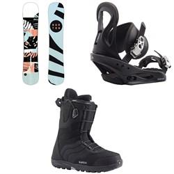 Burton Hideaway Snowboard - Women's + Citizen Snowboard Bindings - Women's + Mint Snowboard Boots - Women's 2020