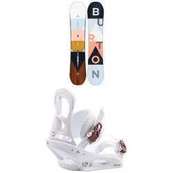 Burton Yeasayer Snowboard + Stiletto Snowboard Bindings - Women's
