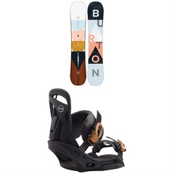 Burton Yeasayer Flying V Snowboard - Women's + Burton Scribe EST Snowboard Bindings - Women's 2020