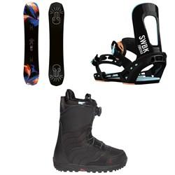 Bataleon Distortia Snowboard  + Switchback Forever Snowboard Bindings  + Burton Mint Boa R Snowboard Boots - Women's 2018