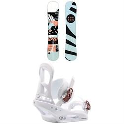 Burton Hideaway Snowboard - Women's + Burton Stiletto Snowboard Bindings - Women's 2020