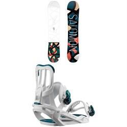 Salomon Lotus Snowboard - Women's + Salomon Spell Snowboard Bindings - Women's 2020