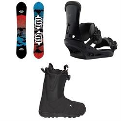 GNU T2B Snowboard  + Burton Custom Snowboard Bindings  + Moto Boa R Snowboard Boots 2018