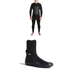 Imperial Motion 5​/4​/3 Lux Deluxe Back Zip Wetsuit ​+ Imperial Motion 5mm Lux Round Toe Wetsuit Booties