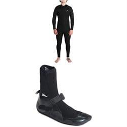 Imperial Motion 4/3 Lux Premier Chest Zip Wetsuit + Imperial Motion 3mm Lux Split Toe Wetsuit Booties