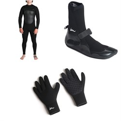 Imperial Motion 4​/3 Lux Deluxe Chest Zip Wetsuit ​+ Imperial Motion 3mm Lux Split Toe Wetsuit Booties ​+ Imperial Motion 3mm Lux Wetsuit Gloves