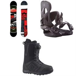 Rome Mechanic Snowboard + Rome Arsenal Snowboard Bindings + Burton Moto Boa Snowboard Boots