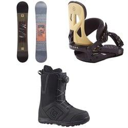 Rome Reverb Rocker SE Snowboard + Rome Arsenal Snowboard Bindings + Burton Moto Boa Snowboard Boots