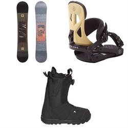 Rome Reverb Rocker SE Snowboard + Rome Arsenal Snowboard Bindings + Burton Moto Boa R Snowboard Boots