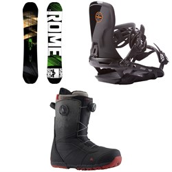 Rome Mod Snowboard 2018 + Targa Snowboard Bindings 2017 + Burton Ruler Boa Snowboard Boots