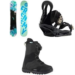 Rossignol Frenemy Snowboard - Women's 2019 + Burton Citizen Snowboard Bindings - Women's 2019 + Mint Boa Snowboard Boots - Women's 2018