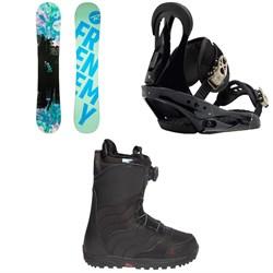 Rossignol Frenemy Snowboard  + Burton Citizen Snowboard Bindings  + Mint Boa R Snowboard Boots - Women's 2018