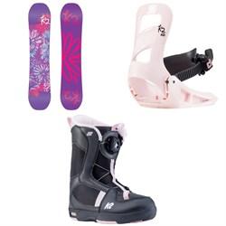 K2 Lil Kat Snowboard + Lil Kat Snowboard Bindings + Lil Kat Snowboard Boots - Little Girls' 2021