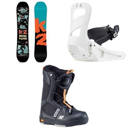 K2 Mini Turbo Snowboard - Boys' + Mini Turbo Snowboard Bindings - Little Boys' 2020 + Mini Turbo Snowboard Boots - Little Boys' 2020