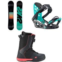 K2 Vandal Snowboard + Vandal Snowboard Bindings + Vandal Snowboard Boots - Boys' 2020