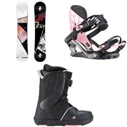 K2 Kandi Snowboard - Girls' + Kat Snowboard Bindings - Girls' 2020 + Kat Snowboard Boots - Big Girls' 2020