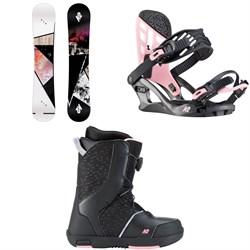 K2 Kandi Snowboard + Kat Snowboard Bindings + Kat Snowboard Boots - Girls' 2020