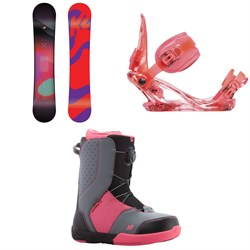 K2 Kandi Snowboard - Girl's  ​+ Kat Snowboard Bindings - Girls'  ​+ Kat Snowboard Boots - Girls' 2018
