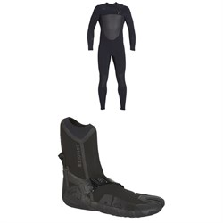 XCEL 4​/3 Drylock Celliant Wetsuit  ​+ XCEL 3mm Drylock Split Toe Boots