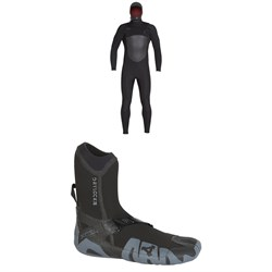 XCEL 5/4 Infiniti TDC Hooded Wetsuit + XCEL 5mm Drylock Split Toe Boots