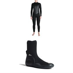 Imperial Motion 5​/4​/3 Luxxe Deluxe Back Zip Wetsuit - Women's ​+ Imperial Motion 5mm Lux Round Toe Wetsuit Booties