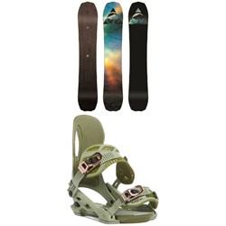 Arbor Bryan Iguchi Pro Camber Snowboard + Cypress Snowboard Bindings