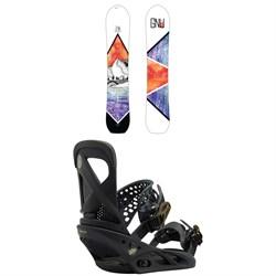 GNU Klassy C2X Snowboard - Women's  + Burton Lexa Snowboard Bindings - Women's 2018