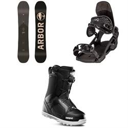 Arbor Foundation Snowboard + Arbor Spruce Snowboard Bindings + thirtytwo STW Boa Snowboard Boots 2020