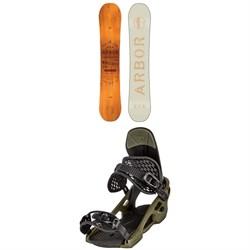 Arbor Whiskey Snowboard + Arbor Spruce Snowboard Bindings 2020