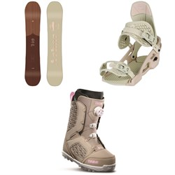 Arbor Ethos Snowboard - Women's + Arbor Acaicia Snowboard Bindings - Women's + thirtytwo STW Boa Snowboard Boots - Women's 2020