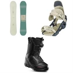 Arbor Poparazzi Rocker Snowboard - Women's + Arbor Acaicia Snowboard Bindings - Women's + thirtytwo STW Boa Snowboard Boots - Women's 2020