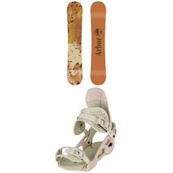 Arbor Cadence Rocker Snowboard - Women's + Arbor Acaicia Snowboard Bindings - Women's 2020