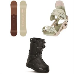 Arbor Ethos Snowboard - Women's + Arbor Acaicia Snowboard Bindings - Women's + thirtytwo Shifty Boa Snowboard Boots - Women's 2020