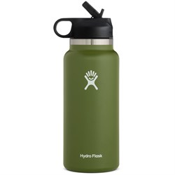 Hydro Flask 32oz Wide Mouth Straw Lid Water Bottle