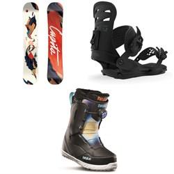 CAPiTA Space Metal Fantasy Snowboard - Women's + Union Rosa Snowboard Bindings - Women's + thirtytwo Zephyr Boa Snowboard Boots - Women's 2020