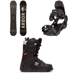 Arbor Foundation Snowboard ​+ Arbor Spruce Snowboard Bindings ​+ DC Phase Snowboard Boots 2020