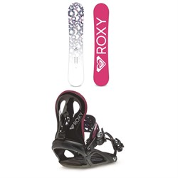 Roxy Glow Snowboard - Women's + Roxy Wahine Snowboard Bindings - Women's 2020