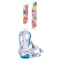 Roxy XOXO C2 Snowboard - Women's + Roxy Classic Snowboard Bindings - Women's 2020