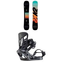 K2 Afterblack Snowboard + K2 Indy Snowboard Bindings 2020