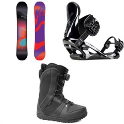 K2 Bright Lite Snowboard + K2 Cassette Snowboard Bindings + Ride Sage Snowboard Boots - Women's