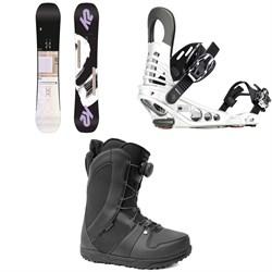 K2 Lime Lite Snowboard + K2 Meridian Snowboard Bindings + Ride Sage Snowboard Boots - Women's